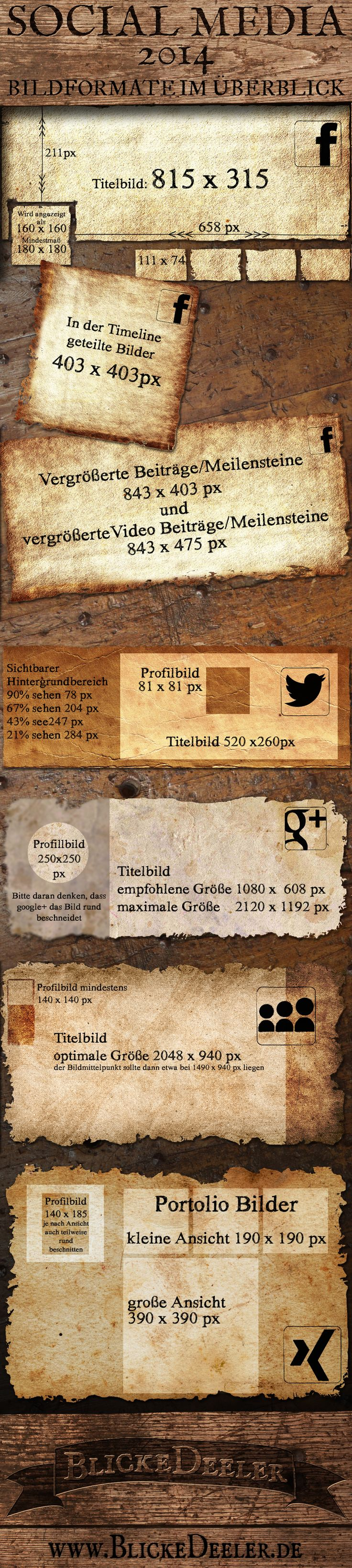 BlickeDeeler: SocialMedia Bildgröße - Infografik | #infographic #marketing #socialmedia #sizesheet  #myspace #xing #facebook #google+ #community #business #illustration #information #design < designed and pinned by www.BlickeDeeler.de