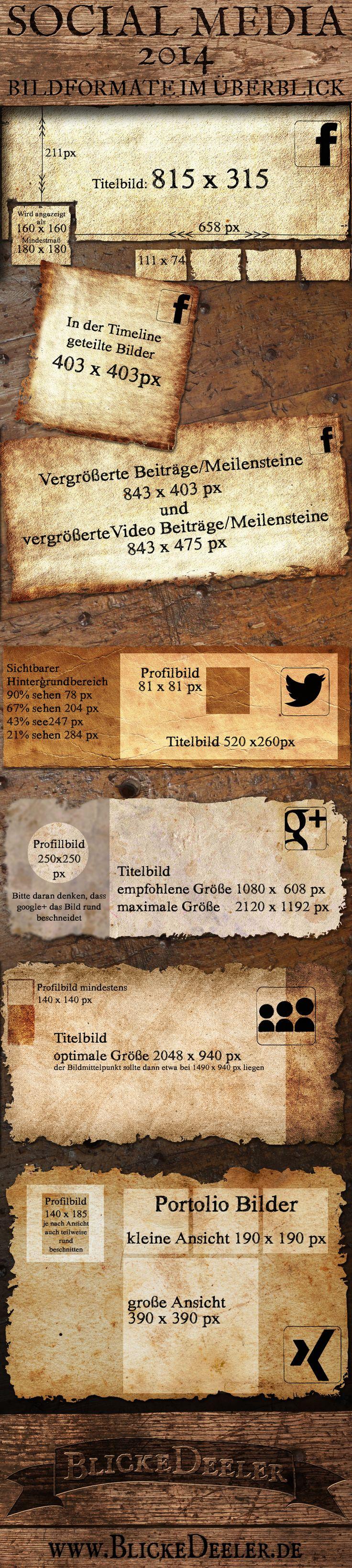 BlickeDeeler: SocialMedia Bildgröße - Infografik   #infographic #marketing #socialmedia #sizesheet  #myspace #xing #facebook #google+ #community #business #illustration #information #design < designed and pinned by www.BlickeDeeler.de