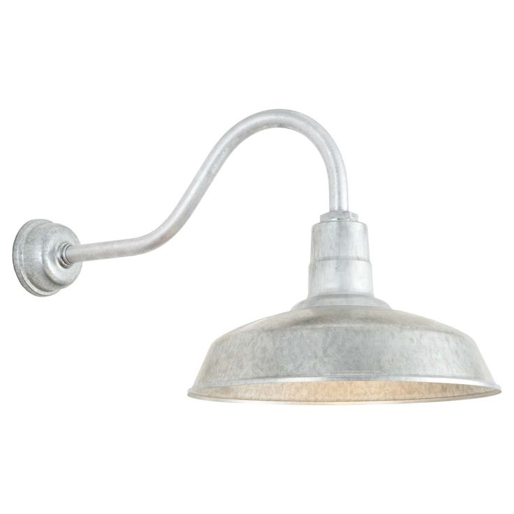 Gooseneck Barn Light Warehouse Outdoor Wall Sconce Hl A Arm