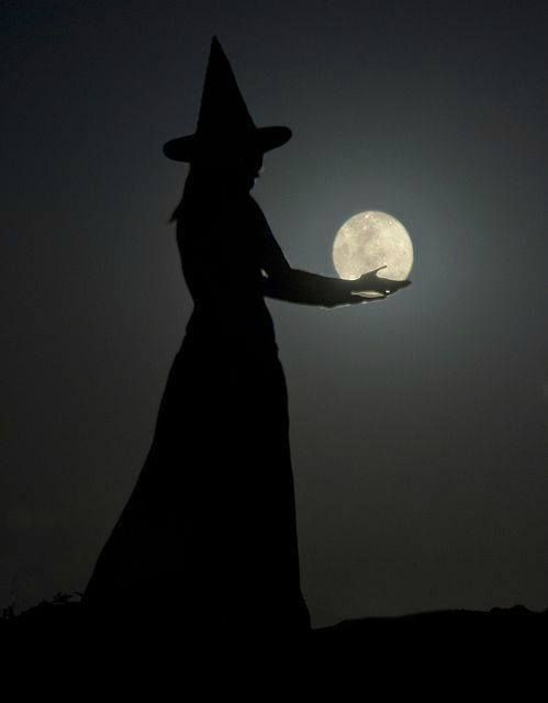 A witch Creating moonshine for All Hallow's Eve ......... by Olivia Frankenstein