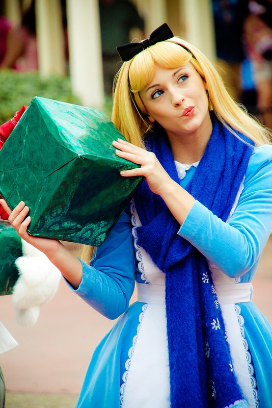 Alice (the costumed cast member) in Disney World