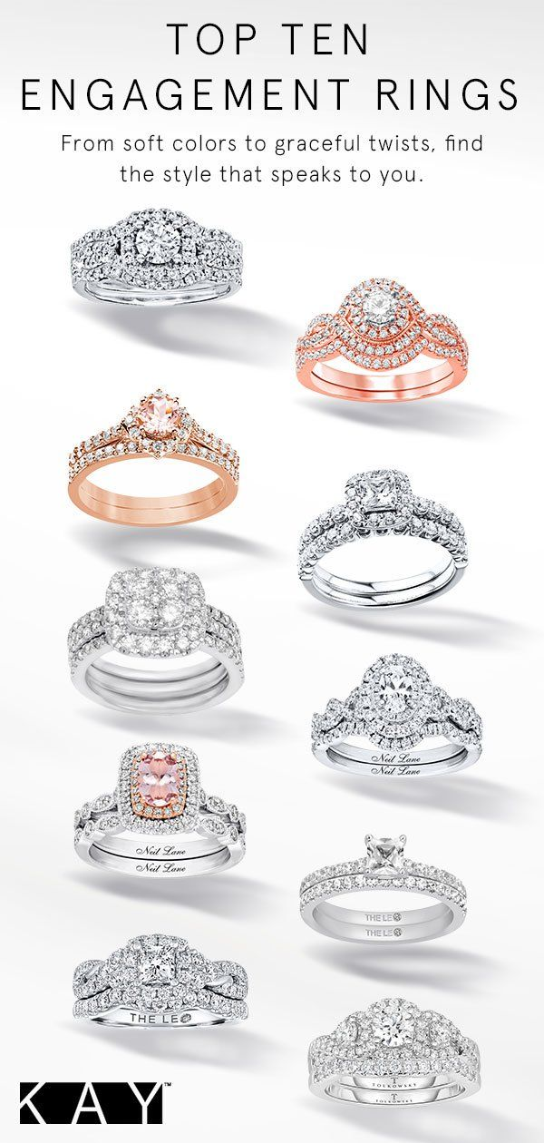 From A Classic White Gold Solitaire To A Trendy Rose Gold Gemstone Engagement Ring We Have The Pe Top 10 Engagement Rings Gemstone Engagement Rings Engagement