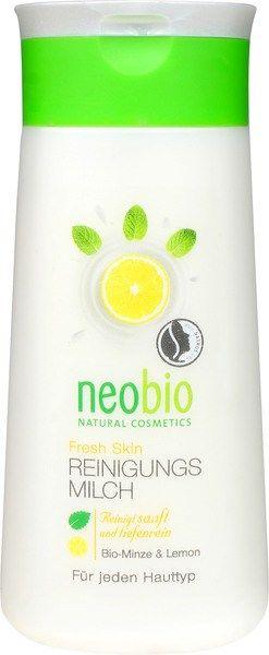 Fresh Skin reinigingsmelk Neobio Neobio Fresh Skin Reinigingsmelk reinigt uw huid van make-up resten en overtollig vet. MInt en citroen verfrissen en doet uw huid herleven. Druivenpitten en amandelolie beschermen de huid tegen vochtverlies en geven haar een fluweelzacht gevoel. Natuurlijke reinigingsmelk, Natrue gecertificeerd, natuurlijke reiniging voor het gezicht.