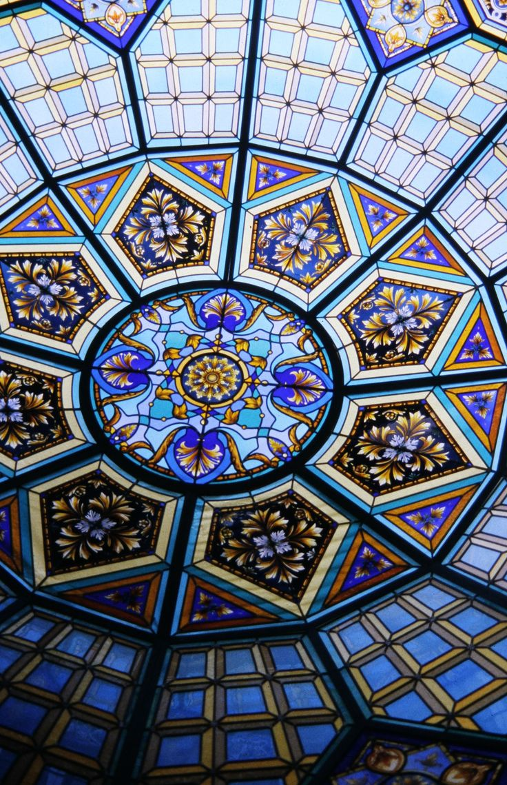 Stained glass DOME by France Vitrail International, Paris http://www.france-vitrail.com/ http://www.ericbonte-maitreverrier.com/EN/