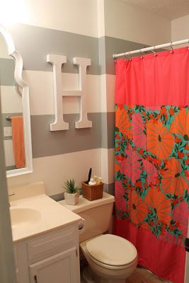 Use a taupe for girls' bathroom instead of gray. And