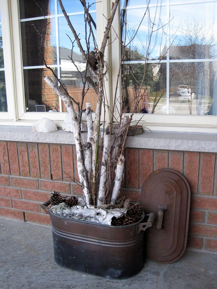 Decorating with Birch Branches | Sense and Simplicity: Front Porch Spring Decorations
