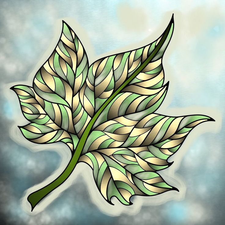 Great Leaf Colored By Majesticglory On Twitter From Our Autumn II Coloring Book