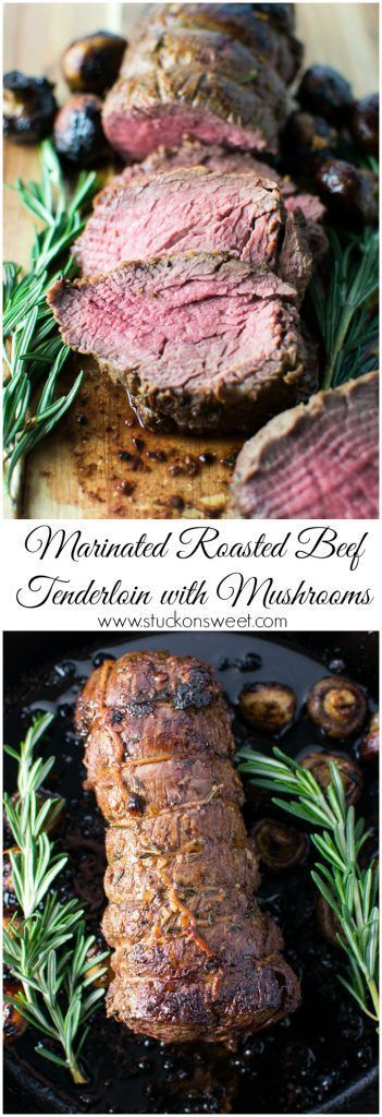 This Marinated Roasted Beef Tenderloin with Mushrooms recipe is perfect to make for the holidays!