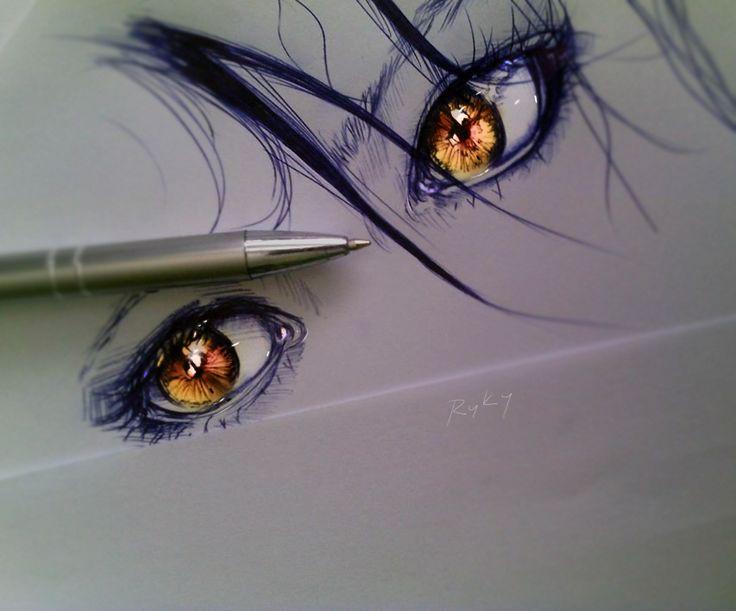 Golden Eyes by ryky on DeviantArt