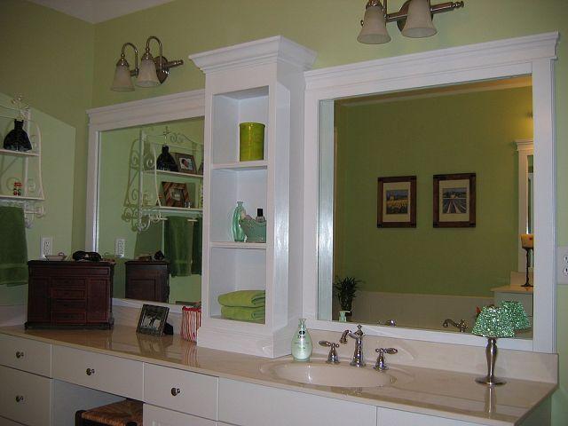Revamp That Large Bathroom Mirror
