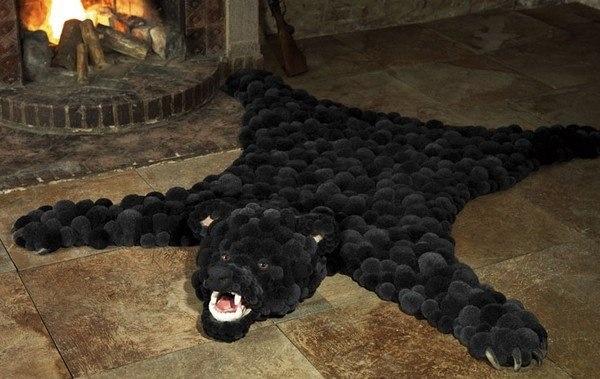 Bear made of wool balls