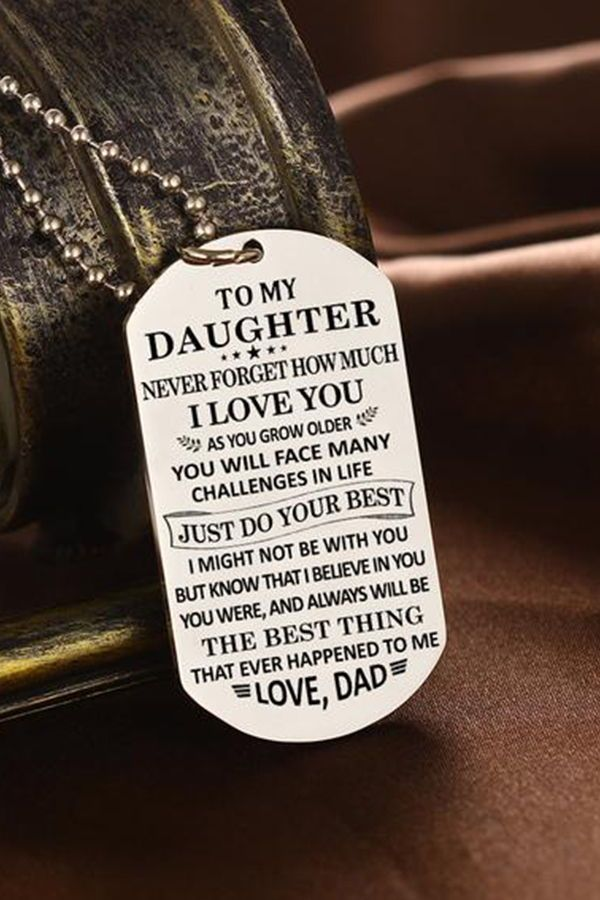 36291188d6e68 Beautiful To My Daughter Necklace From Dad - Best Gift for Birthday ...