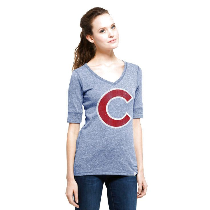 Chicago Cubs '47 Women's Roster Half-Sleeve T-Shirt - Royal - $28.79