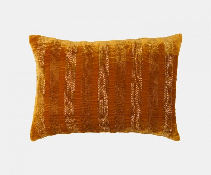 Amelie Velvet - Tobacco Cushion   William Yeoward
