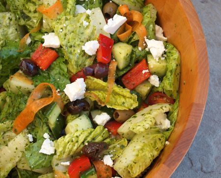 Italian Salad-huge hit...dressing makes the salad, and I use the dressing alone on other salads. Instead of fresh herbs, I just dump in a lot of italian seasonings with the minced garlic. Crowd pleaser!