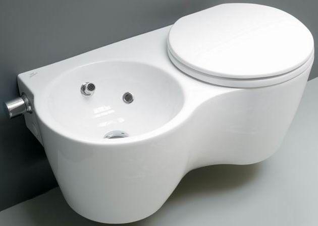 Miski WC : Ideal Standard SMALL+ MISKA ZINTEGROWANA Z BIDETEM (T306901)
