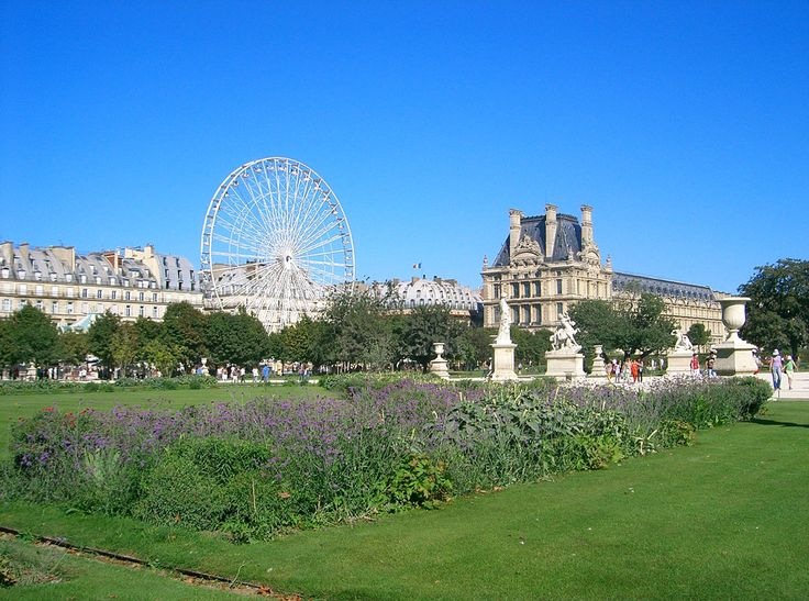 Le Jardin des Tuileries - Paris, FRANCE