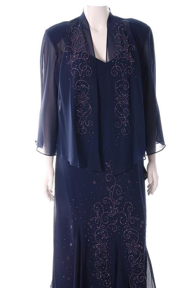 18 20 R M Richards Plus Size Mother of The Bride Dress w Jacket
