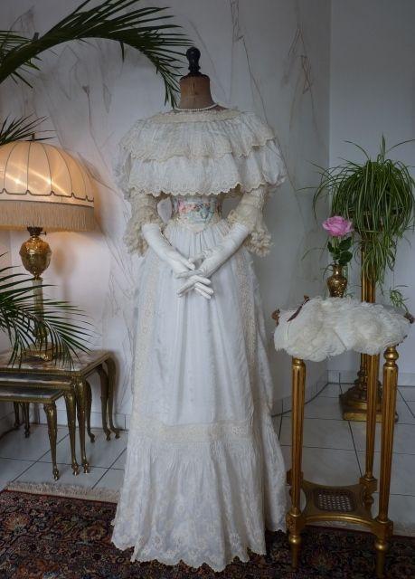 Exquisite Summer Dress, Paris Label, ca. 1901