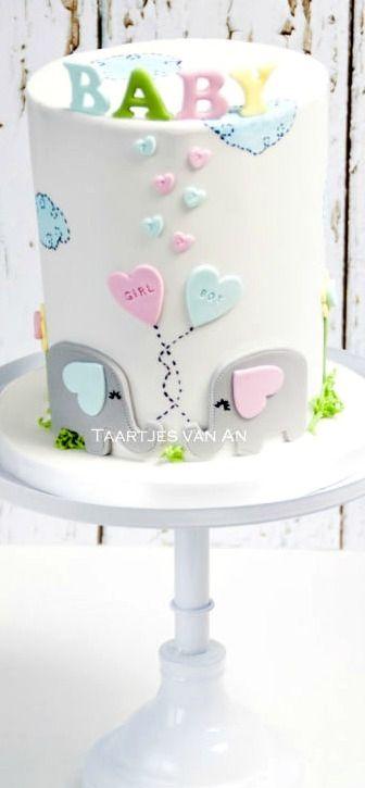 Babyshower boy or girl Cake Simple Cake for everyday  #popcake  #confectionery