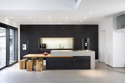 MTB-Küche Anthrazit in Lino