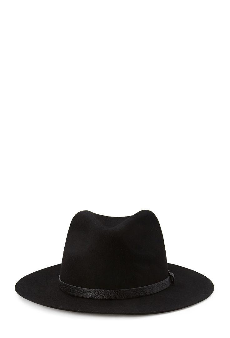 Wide-Brim Wool Fedora #Accessories #Hat