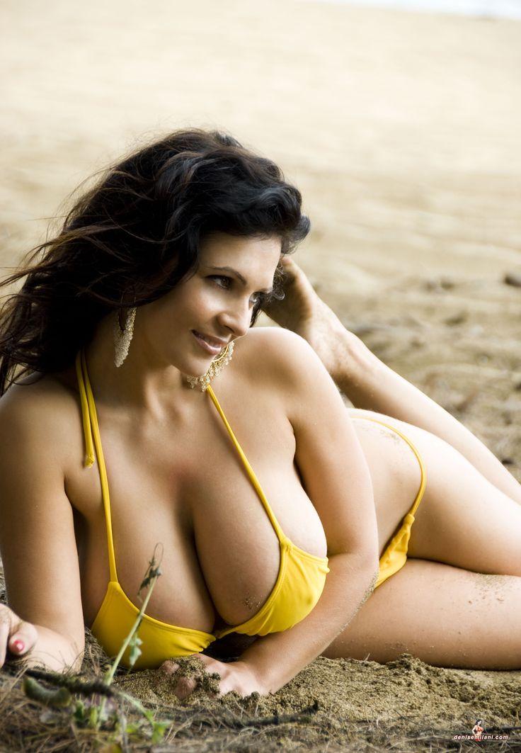 Denise Milani Yellow Bikini Babes Solution Pinterest