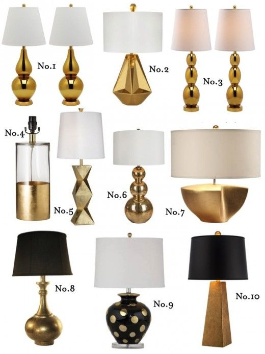 Midas Touch: Gold Lamp Round Up