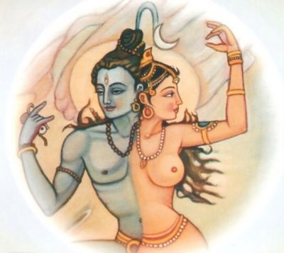 Shiva/Shakti. Lord Shiva in male and female forms.