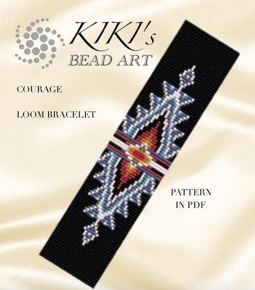 Bead loom pattern Courage LOOM bracelet pattern in PDF