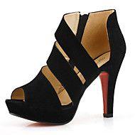 Chaussures Femme - Habillé - Noir - Talon Aiguille - A Plateau - Talons - Synthétique