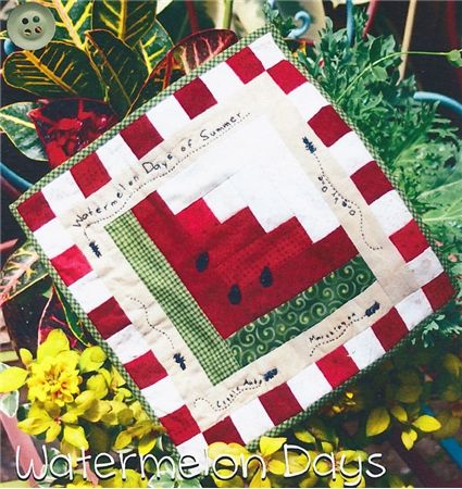 Watermelon Days Table Mat ~ would also make a cute quilt block for a larger quilt.