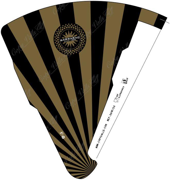Barbarac, France. Black&gold sleeve. Very elegant!