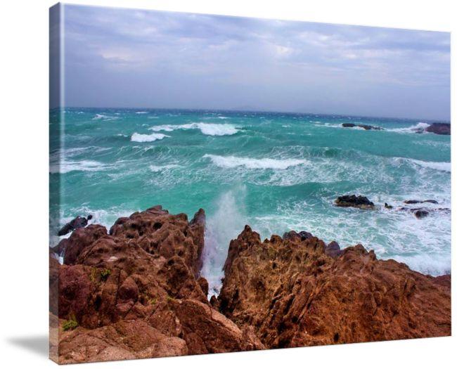 #Seaway by #JuliaFineArt #juliaapostolova #canvas #print #photography #travel #se #waves #ocean #seascape #coastal #greece #greekislands #kos #kefalos
