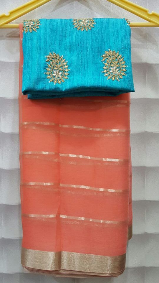exclusive sarees collection Georgette . Here we have pure georgette chiffon stripes sarees paired with...