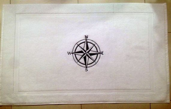 Nautical his and hers BATH MAT compassTub by letsdecorateonline