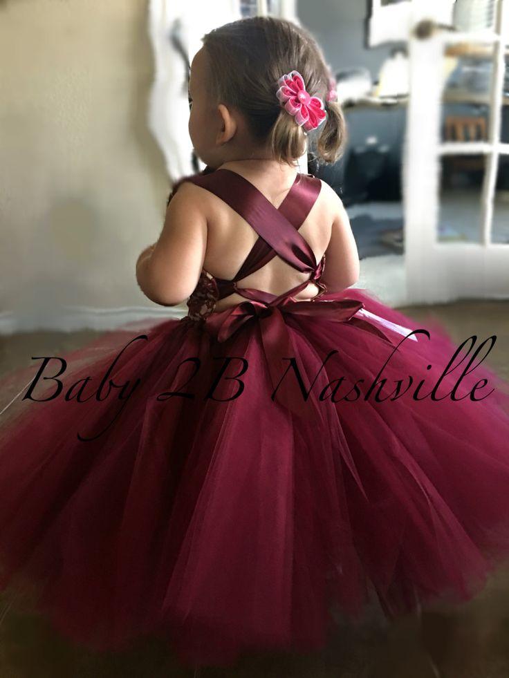 Wine Lace Flower Girl Dress, Wedding Flower Girl  Dress, Wine Tutu Dress, Vintage Dress Baby Dress Toddler Dress Girls Dress Burgundy Dress