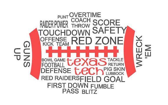 Texas Tech Football Shirt by Studio73Creations on Etsy, $20.00