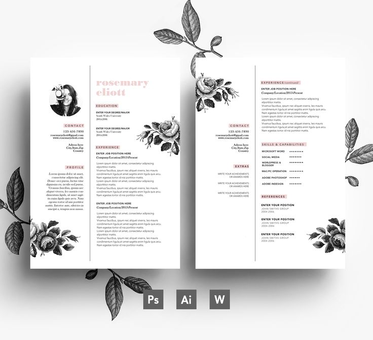 12 best Flower Resumes images on Pinterest Resume templates - resume templates for work