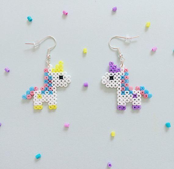 Unicorn metal unicorn earringspompomspearl