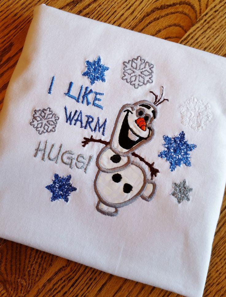 Olaf - I LIKE WARM Hugs - Frozen Disney Snowman Shirt- Adult sizes Available - Olaf, Frozen, Disney, Princess Anna, Queen Elsa, Prince Hans by GumballsOnline on Etsy