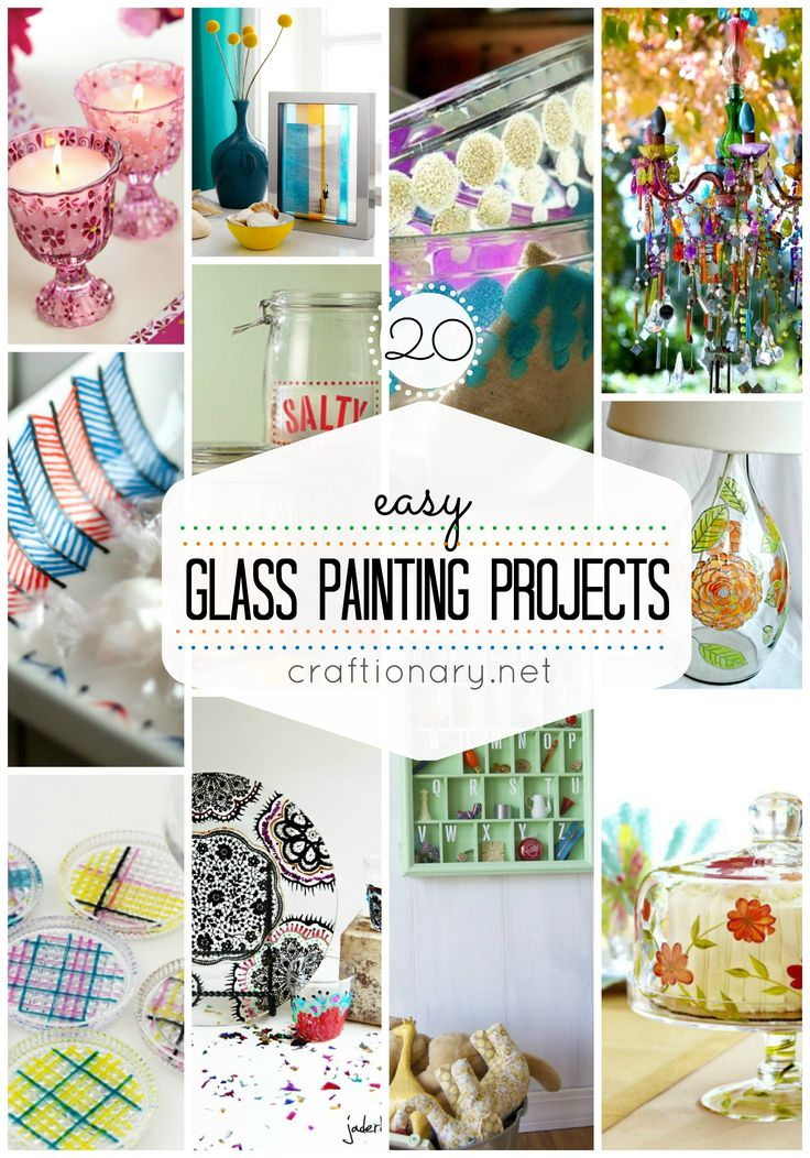 CLICK IMAGE TWICE FOR INFO:) 20 Ideas To Create Decorative Glass Painting Projects @ crafionary.net