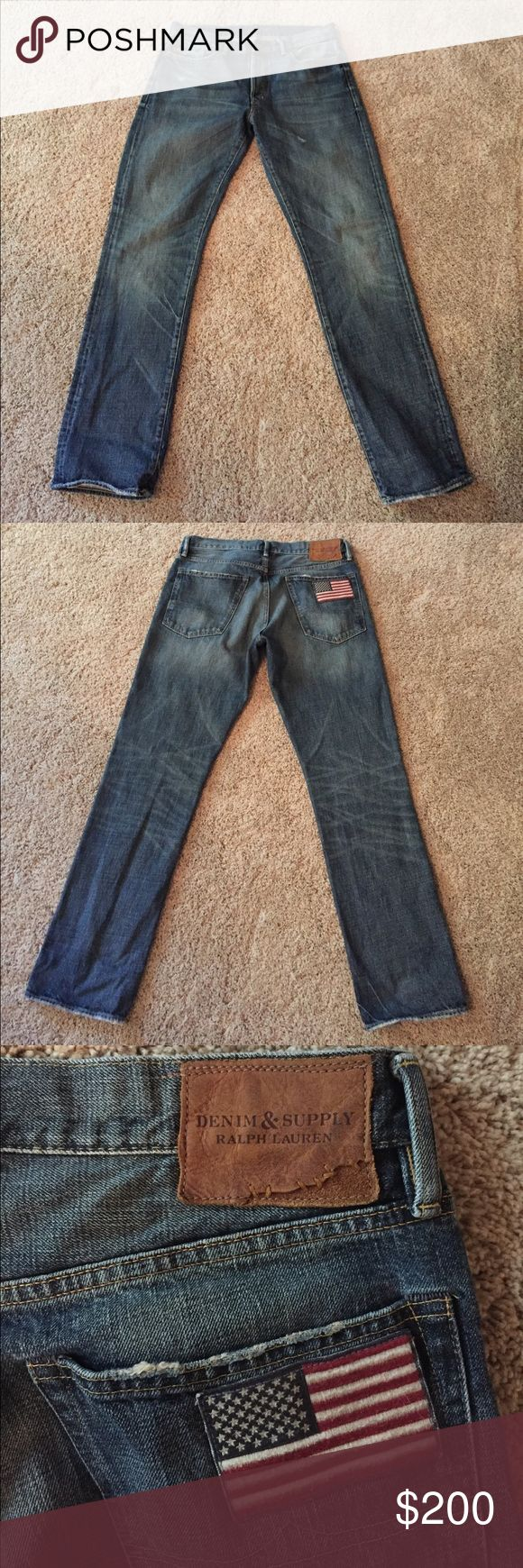 Polo Ralph Lauren Independence Day Straight Jeans Only worn maybe 5 times. Smoke free home. Like new condition. Special edition Independence Day jeans. Denim & Supply Ralph Lauren Jeans Straight