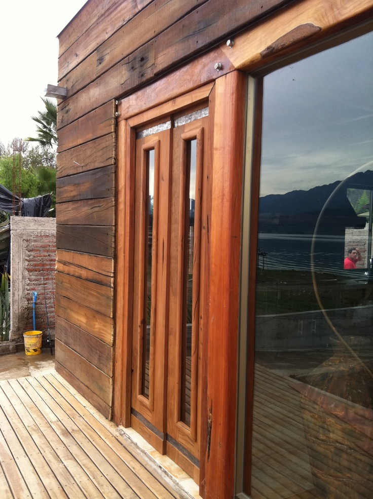 Proyecto aculeo acceso de puertas doble de roble vidriada for Puertas de roble