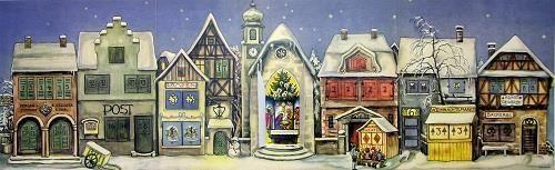 1946 Germany Village German Christmas Advent Calendar Made Germany Countdown | eBay