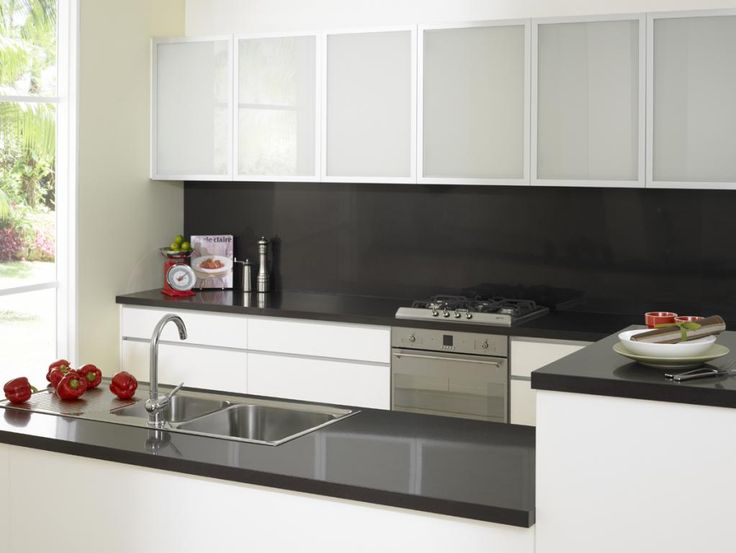 White Kitchen Black Benchtop best 25+ black splashback ideas on pinterest | modern kitchen