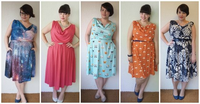 Frocks and Frou Frou - Myrtle Dress 5 ways - Great for beginners - no zippers, etc.