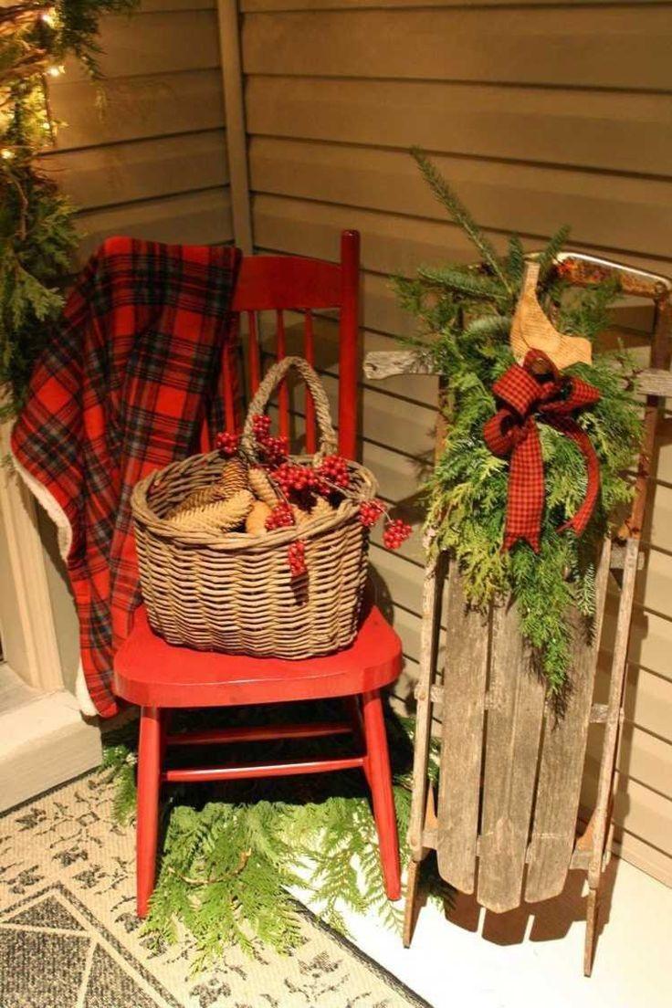 déco de Noël extérieure de style rustique