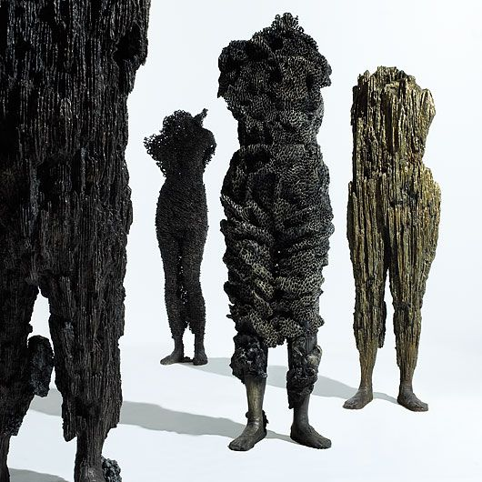 amazing organic figure sculptures cast in bronze by michele oka doner