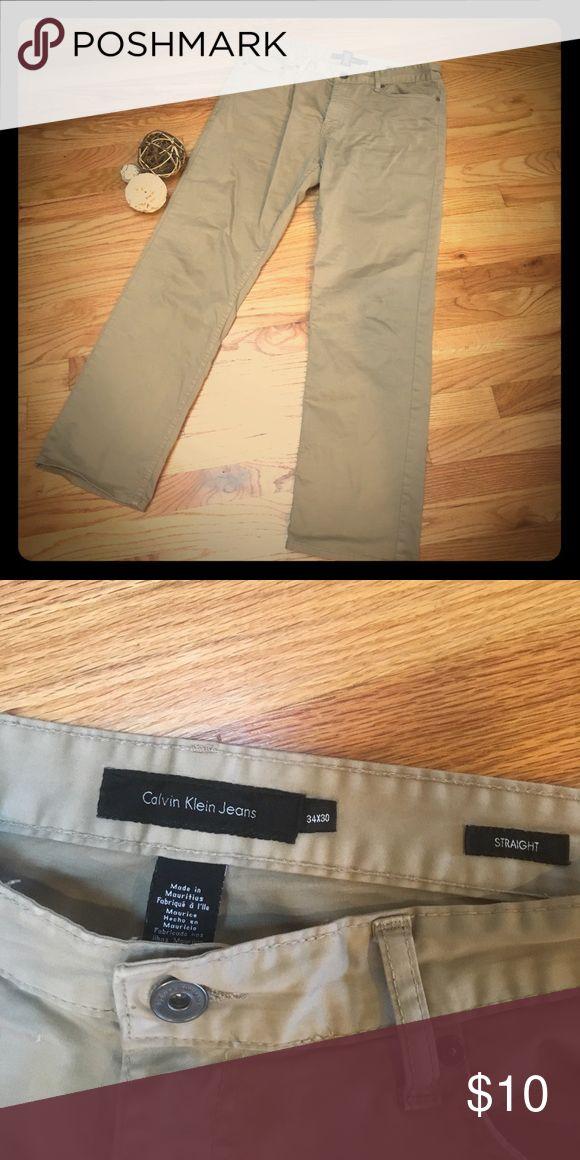 Men's Khaki Pants Great shape, straight leg 34x30's. Calvin Klein Jeans Pants Chinos & Khakis